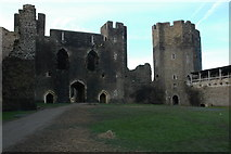 ST1587 : The Inner Ward, Caerphilly Castle by Philip Halling