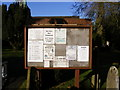 TM0760 : Holy Trinity Church, Stowupland, Notice Board by Adrian Cable