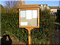 TM1058 : St. Mary's Church, Earl Stonham, Notice Board by Adrian Cable