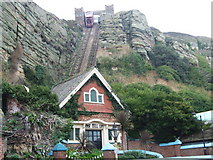 TQ8209 : East Hill Funicular Railway, Hastings by Chris Whippet