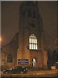TQ4077 : St John's church, Christmas Eve by Stephen Craven