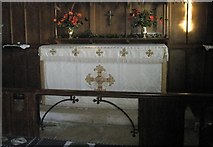 SU8014 : The altar at St Peter, East Marden by Basher Eyre
