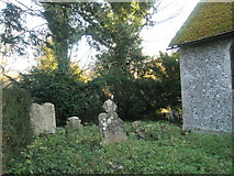 SU8014 : Rear of the churchyard at St Peter, East Marden by Basher Eyre