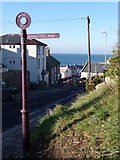 SY6873 : Portland: pedestrian signpost by Chris Downer