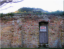TQ9418 : Keep Out of Martello Tower 28 by Kevin Gordon