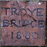 TQ0950 : Troye Bridge Name Plaque by DES HOLLIER