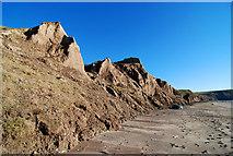 SH1726 : Soft cliffs at Aberdaron by Dave Croker