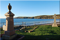 SH1726 : Coastal graveyard, Aberdaron by Dave Croker