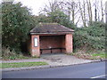 TM2677 : Bus Shelter on B1116 Laxfield Road, Fressingfield by Adrian Cable