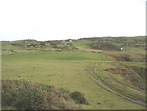 SH4094 : Clifftop fields on the eastern side of Porth Wen cove by Eric Jones