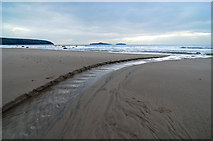 SH1726 : The beach on Christmas Day, Aberdaron by Dave Croker