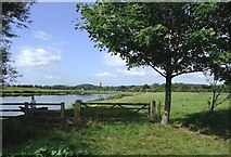SK6543 : Riverside meadows from Trent Lane by johnfromnotts