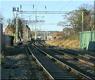 SJ8934 : 2008 : Stone Railway Station from Mount Road level crossing by Maurice Pullin