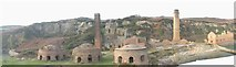 SH4094 : A panorama of the Porth Wen Brickworks by Eric Jones