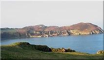 SH4094 : Porth Wen cove and the Torllwyn headland from Trwyn Llech by Eric Jones
