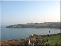 SH4094 : The eastern shore of Porth Wen from above the brickworks by Eric Jones