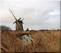 TG4423 : Waxham New Cut and Brograve drainage mill by Evelyn Simak