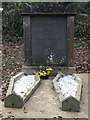 SM9628 : Double grave at St Dogwells by ceridwen