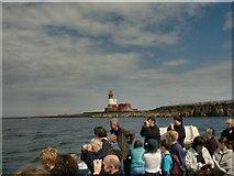 NU2438 : Longstone Lighthouse by Gerald England