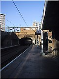 TQ3386 : Looking northwards at Stoke Newington Station by Sarah Charlesworth