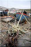 SW4628 : Boats in Newlyn old harbour by Bob Jones