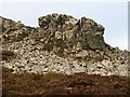 SO3699 : Rock at the Devil's Chair by Derek Harper