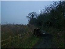 TQ6668 : Vandalised Car on byway by David Anstiss