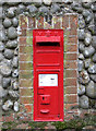 TG1836 : Victorian postbox by Evelyn Simak