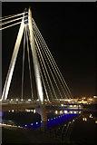 SD3317 : Southport Marine Way Bridge at night by Eddie Joynson