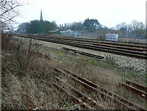 SU1484 : West Country to Paddington railway, Swindon by Brian Robert Marshall