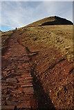 SO0121 : Path ascending Pen y Fan by Philip Halling