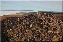 SO0121 : Summit cairn, Pen y Fan by Philip Halling