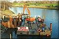 J3471 : River Lagan works, Belfast (1) by Albert Bridge