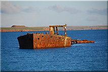 HY4708 : Wreck of the Juniata, Inganess Bay by Ian Balcombe