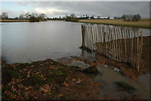 SO8843 : Temporary dam on Croome River by Philip Halling