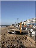SZ1191 : Boscombe, beach shower by Mike Faherty