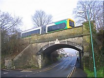 SP0073 : Bridge on Hewell Road under the Redditch branch line. by Roy Hughes