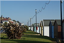TM3034 : Beach huts at Felixstowe by Oxymoron