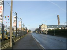 SE0724 : Queen's Road - viewed from Parkinson Lane by Betty Longbottom