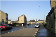 SE0724 : Warley Road - viewed from Parkinson Road by Betty Longbottom