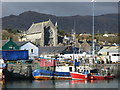 V6745 : Harbour and church in Castletown Bearhaven by Ulrich Hartmann