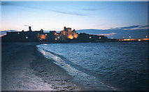 SC2484 : Peel Castle at night by Trevor Rickard
