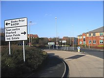 SO9568 : Traffic Island,  A38 Bromsgrove Eastern By-Pass. by Roy Hughes