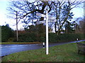 TM2954 : Old Road Sign, The Street, Pettistree by Adrian Cable