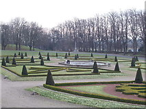 NZ0516 : Formal garden of The Bowes Museum by David Hawgood