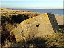 TA3624 : Pillbox next to Holmpton Beach by Andy Beecroft