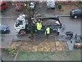 TQ4388 : Tarmacing the pavement by Robert Lamb