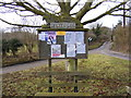 TM2147 : Playford Village Sign, Notice Board & Seat by Adrian Cable