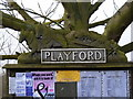 TM2147 : Playford Village Sign by Adrian Cable