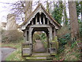 TM2148 : Lych gate to St.Mary's Church, Playford by Adrian Cable